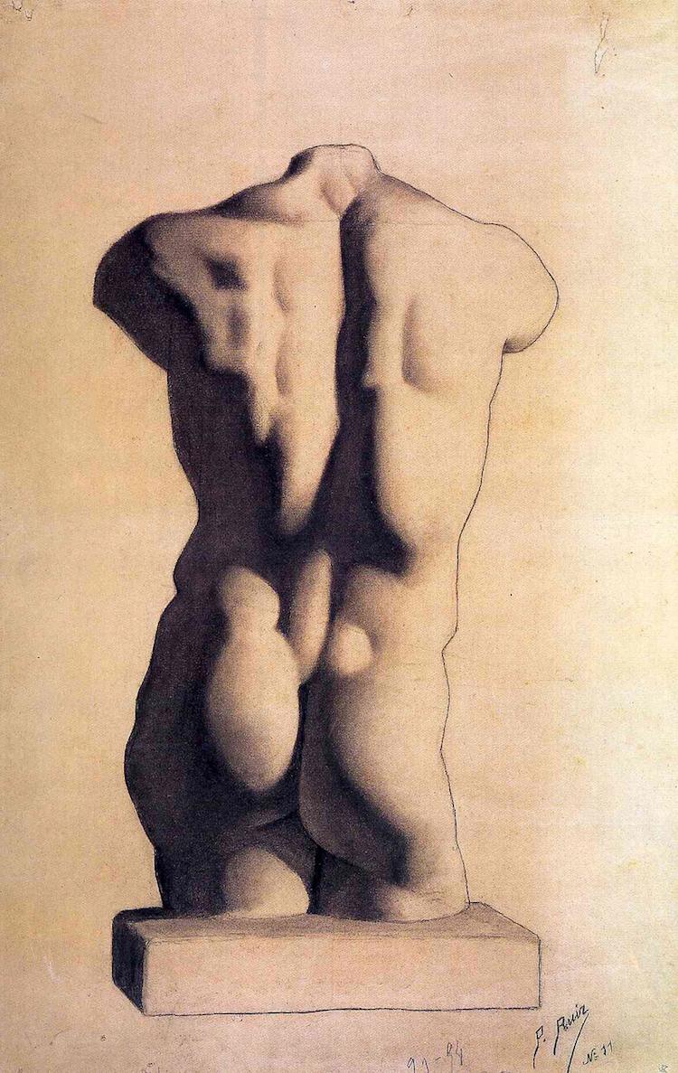 «Гіпсовий чоловічий торс», 1893