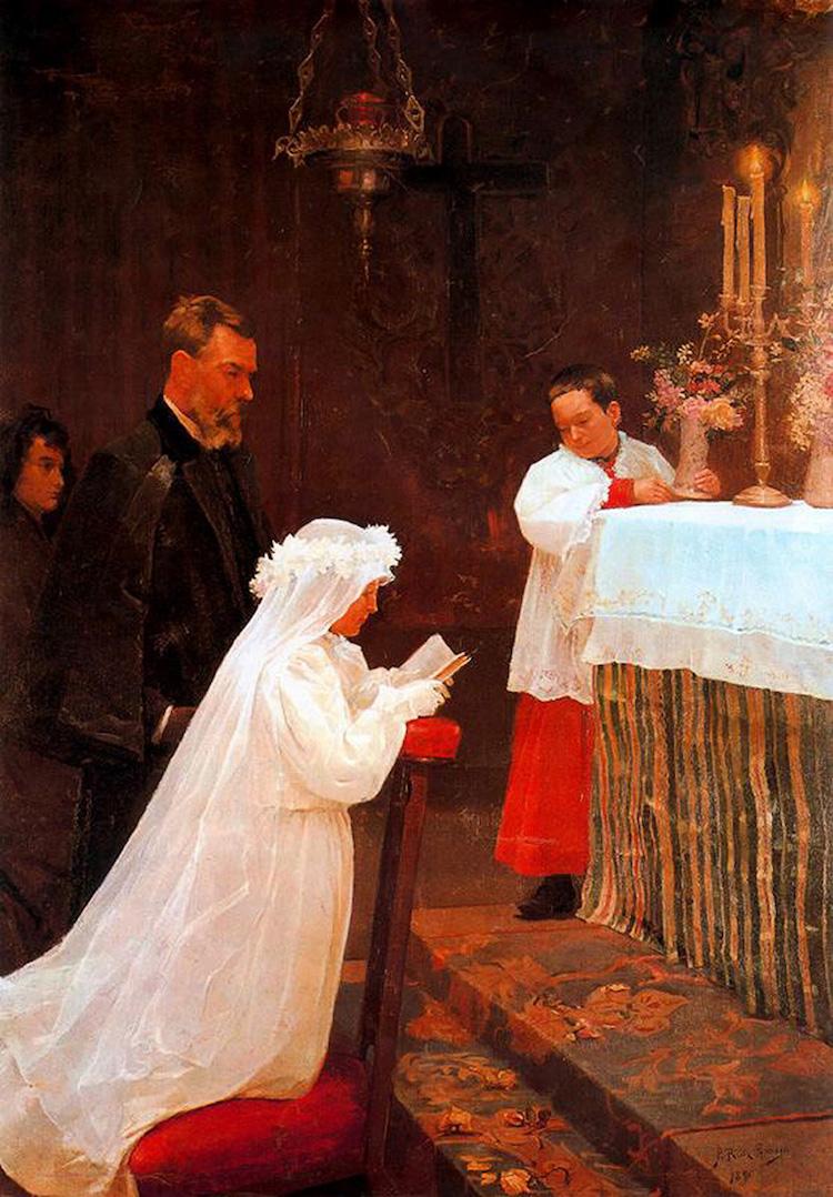 «Перше причастя», 1896