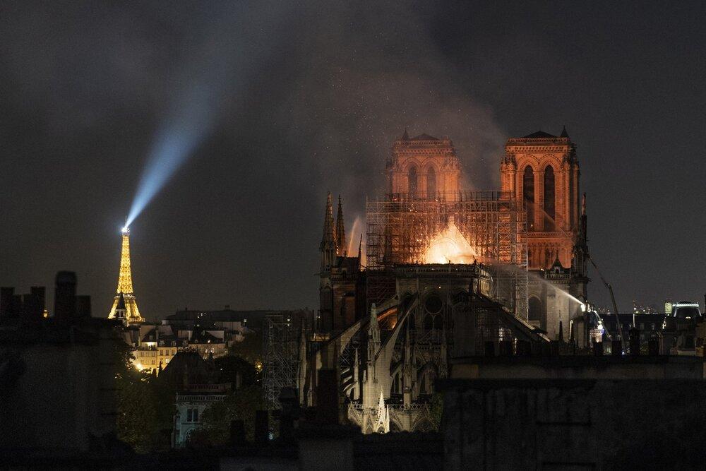 Пожежа в Соборі Паризької Богоматері. Véronique de Viguerie/Getty