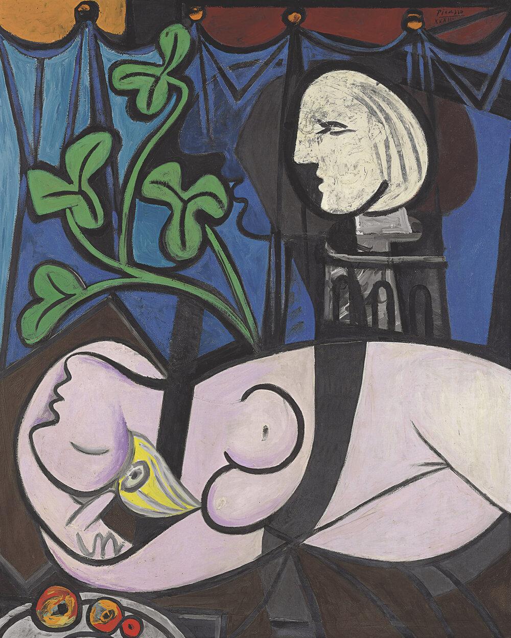 Пабло Пікассо, «Оголена на тлі бюста і зеленого листя» 106,5 мільйона доларів, Christie's