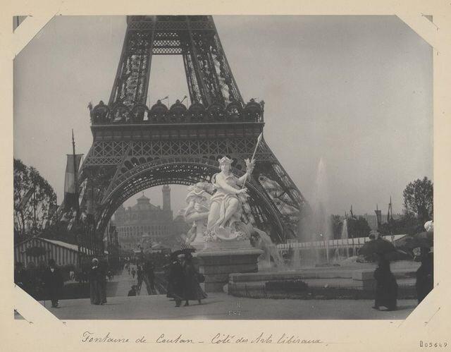 Фонтан «Кутан» під час виставки 1889 року. Світлина: Hippolyte Blancard / Gallica/ BnF