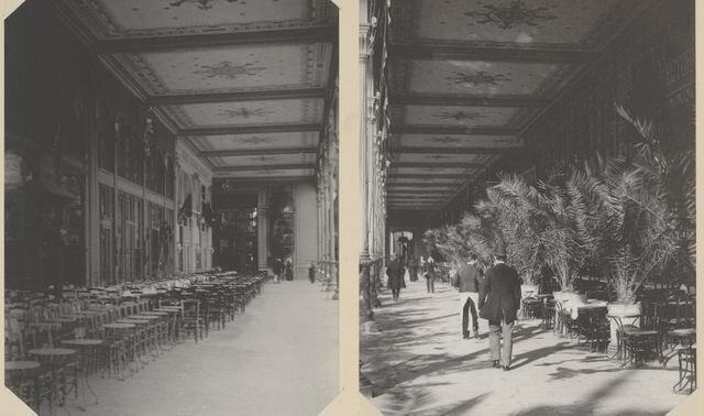 Ресторан на першому поверсі вежі. Світлина: Hippolyte Blancard / Gallica/ BnF