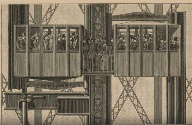 Ліфт. Світлина: Hippolyte Blancard / Gallica/ BnF