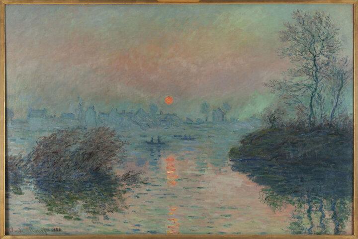 Клод Моне, Soleil couchant sur la Seine à Lavacourt, 1880