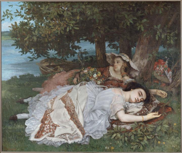 Гюстав Курбе, Les demoiselles des bords de la Seine, 1857. Світлина: