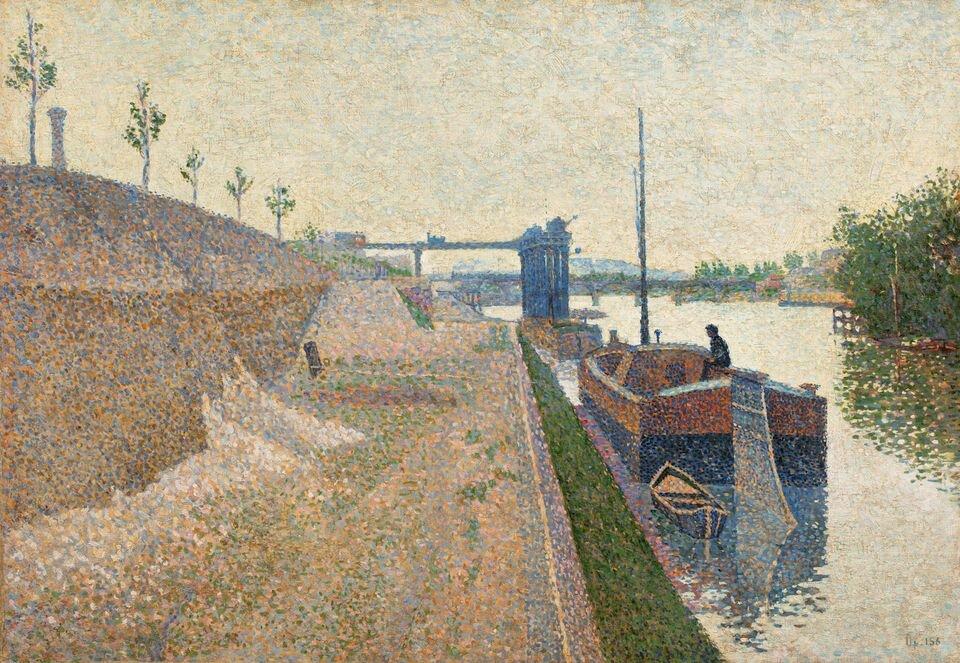 Поль Синьяк, «Набережна Кліші в похмуру погоду» 1887. Світлина: Sotheby's