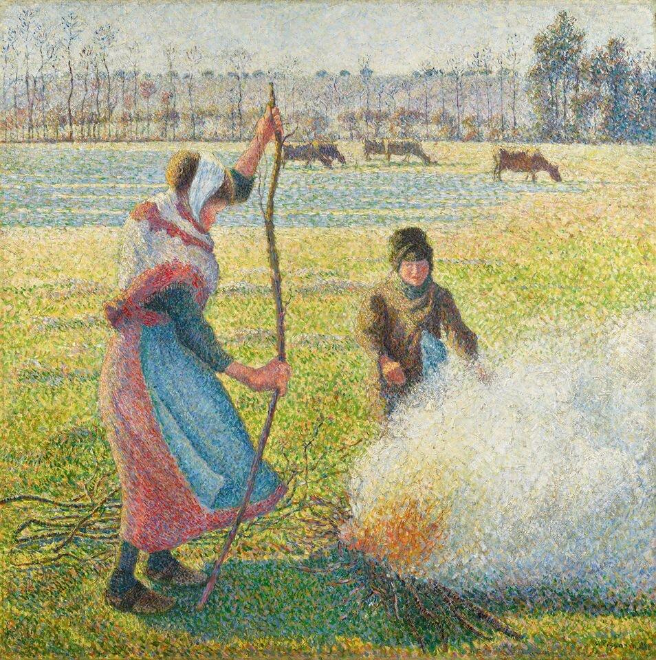 Каміль Пісарро, «Іній. Молода селянка розводить багаття», 1888. Світлина: Sotheby's