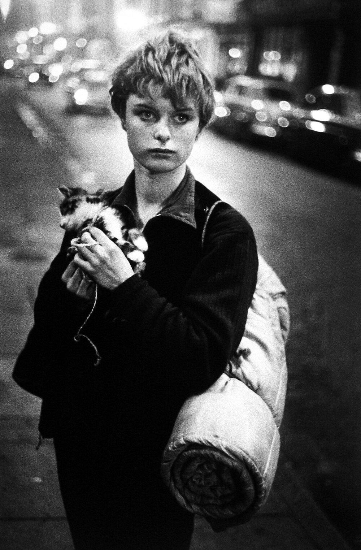 Брюс Девідсон, «Дівчина з котом», 1960