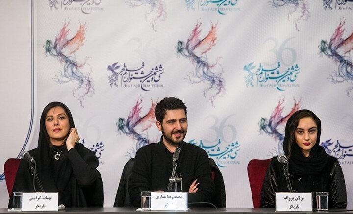 Зліва на право: Махтаб Кераматі, Мохаммад-Реза Гаффарі, Тарлан Парване. Світлина: Wikimedia Commons