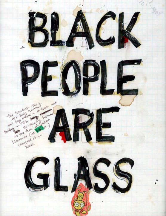 Вільям Поуп. Л, Black People Are Glass, 2001