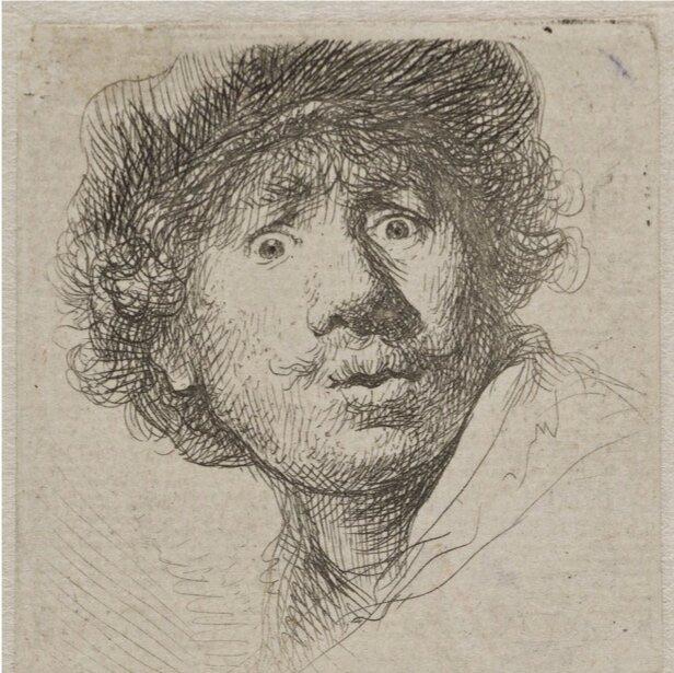 Рембрандт ван Рейн, автопортрет, 1630