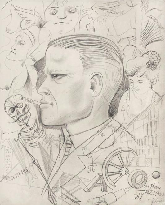 Отто Дікс, Self-Portrait in the Metropolis, 1921