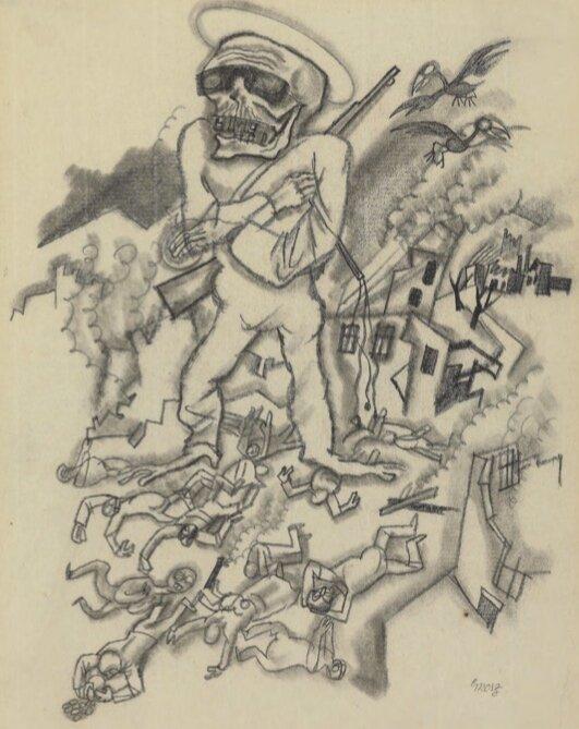 Ґеорґ Ґросс, The War, 1916