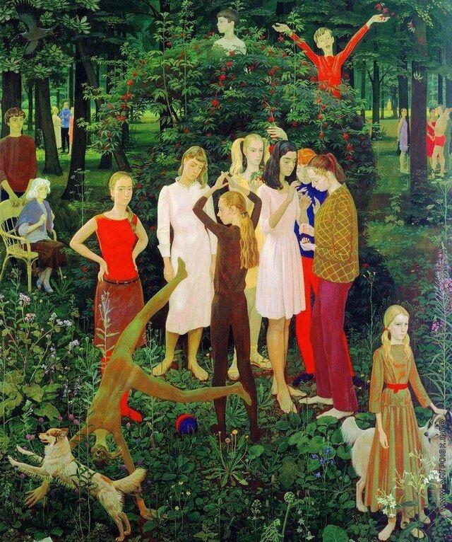 Дмитро Жилінський, «Воскресный день», 1973. Світлина:  wikiwand