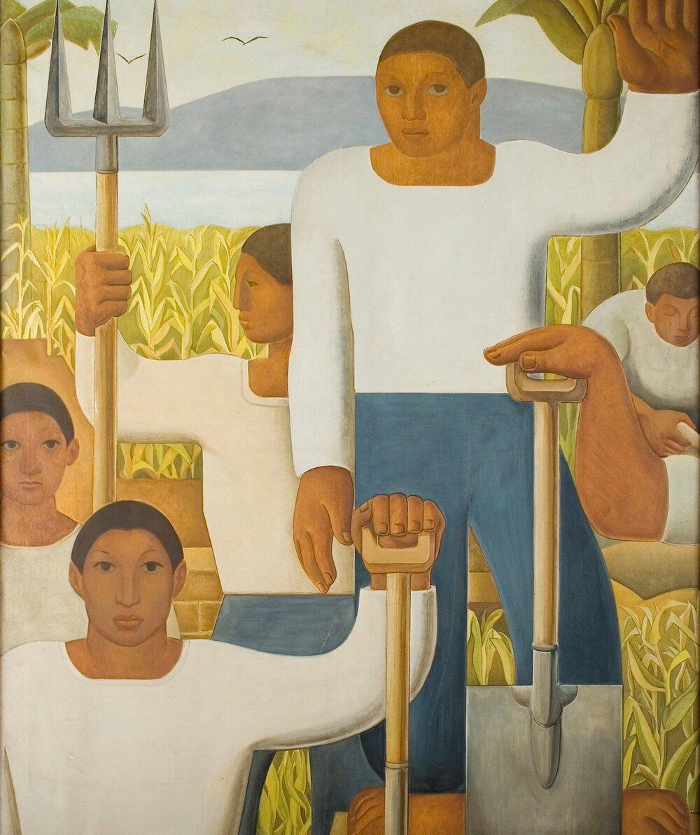 Карлос Кіспес Асін, Alegoría de los labradores, 1928. Світлина:  blantonmuseum