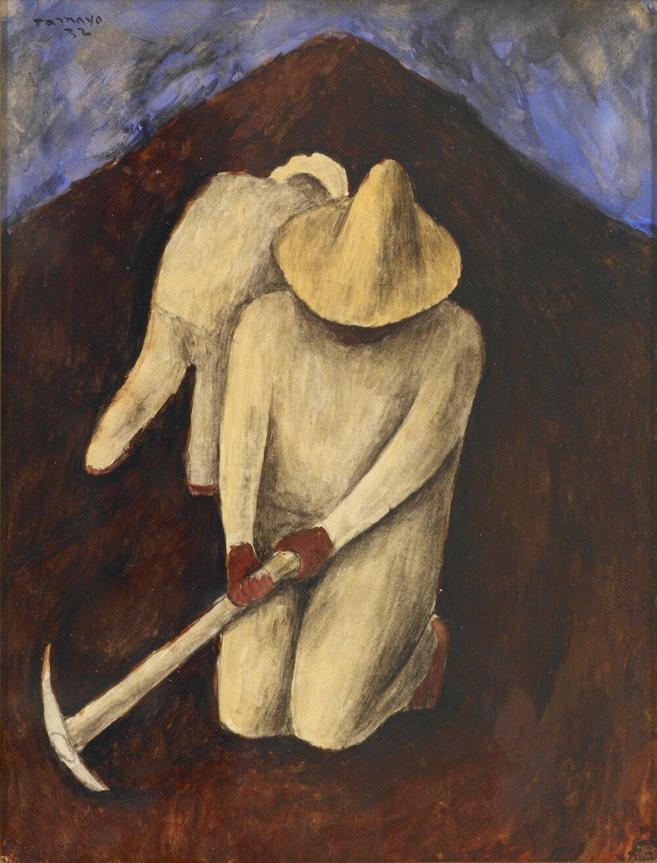 Руфіно Тамайо, Obreros en el camino, 1932. Світлина: blantonmuseum