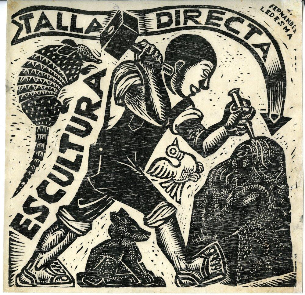 Габріель Фернандес Ледесма, Escultura y talla directa, 1928. Світлина: blantonmuseum