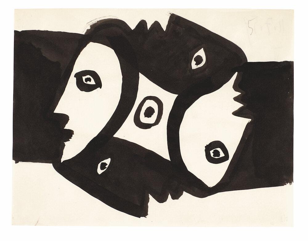 Пабло Пікассо, Visage de profil, 1959
