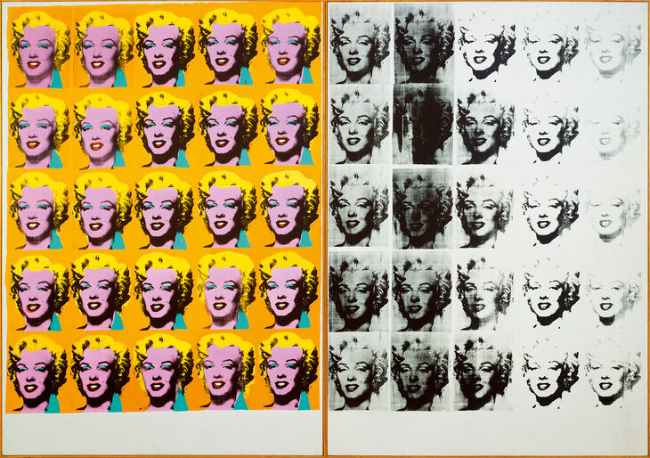 Marilyn Diptych, 1962, © 2019 The Andy Warhol Foundation for the Visual Arts, Inc / Artists Right Society (ARS), New York and DACS, London