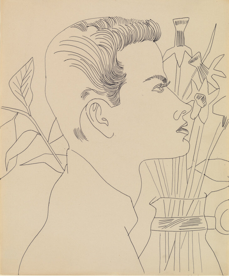 Boy with Flowers, 1955-1957. © 2019 The Andy Warhol Foundation for the Visual Arts, Inc / Artists Right Society (ARS), New York and DACS, London