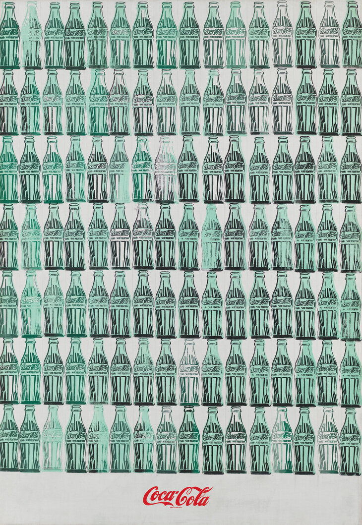 Green Coca-Cola Bottles, 1962. © 2019 The Andy Warhol Foundation for the Visual Arts, Inc / Artists Right Society (ARS), New York and DACS, London