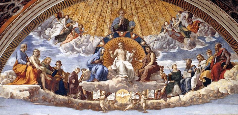 Фреска «Диспут», або «Суперечка про святого причастя»