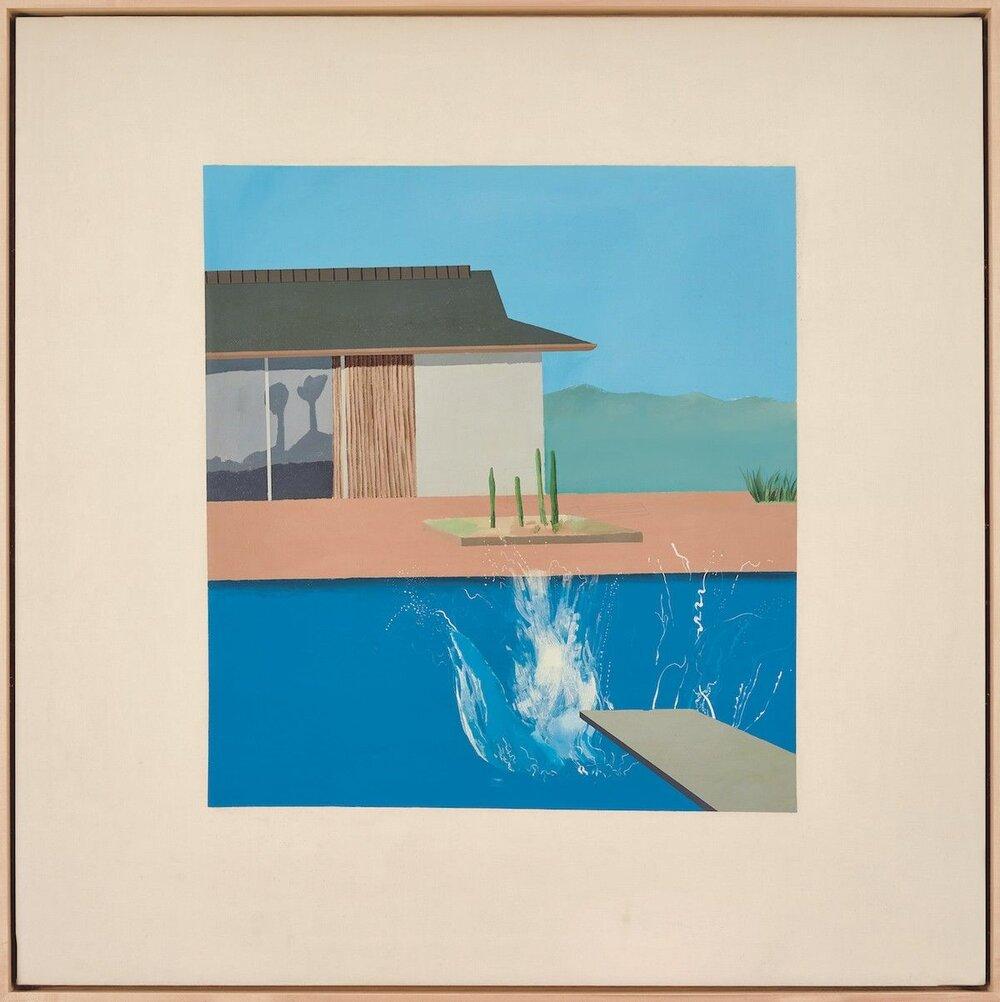 Девід Хокні, «Сплеск», 1966.  Світлина : Sotheby's