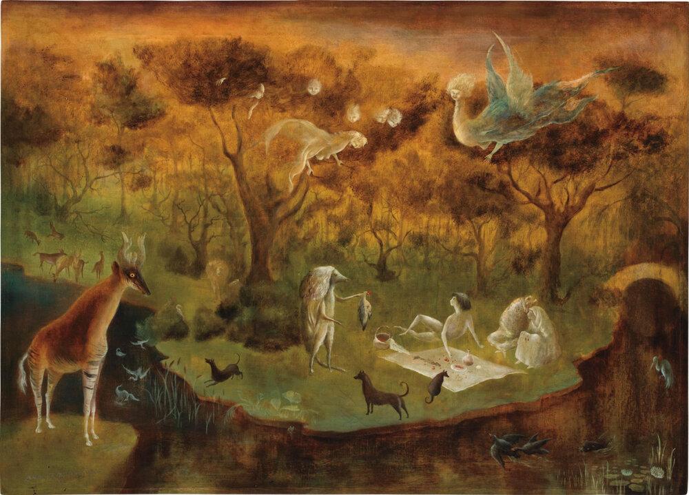 Леонора Керрінґтон, «Pastoral», 1950. Світлина:  arthive