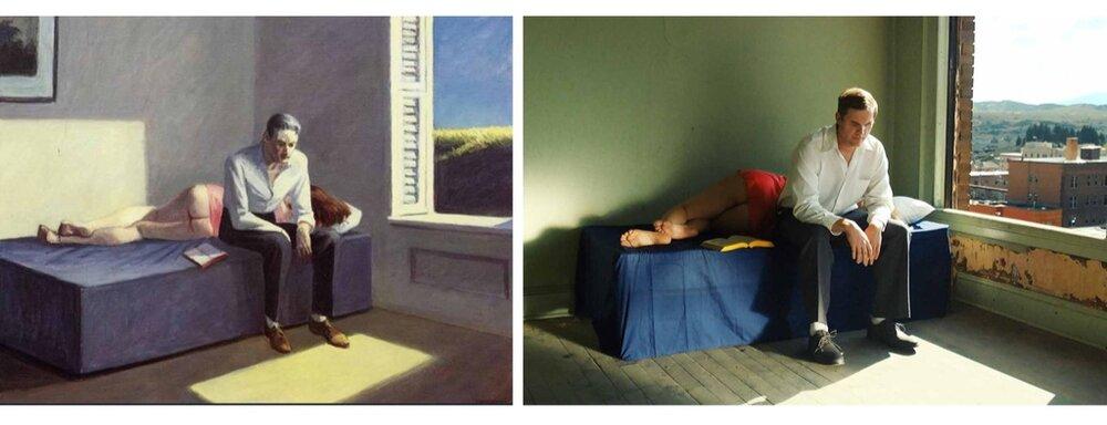 Зліва: «Екскурсія в філософ»і, 1959. Справа кадр з фільму. Світлина:  swissinfo.ch