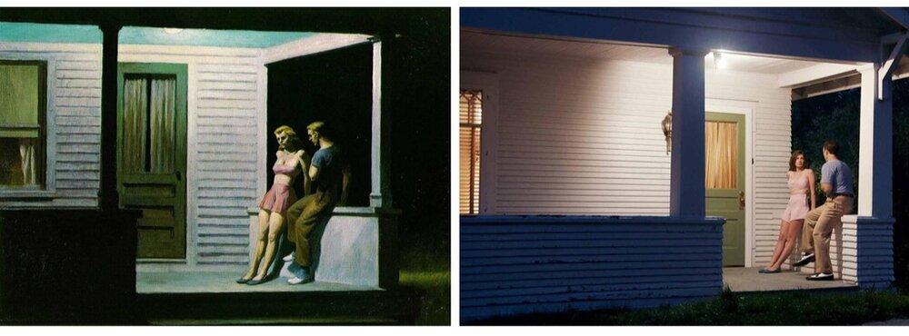 Зліва: «Літній вечір». Справа: кадр з фільму. Світлина:  swissinfo.ch
