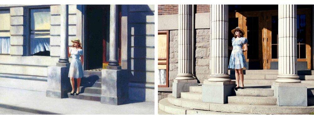 Зліва: «Літо», 1943. Справа: кадр з фільму. Світлина:  swissinfo.ch