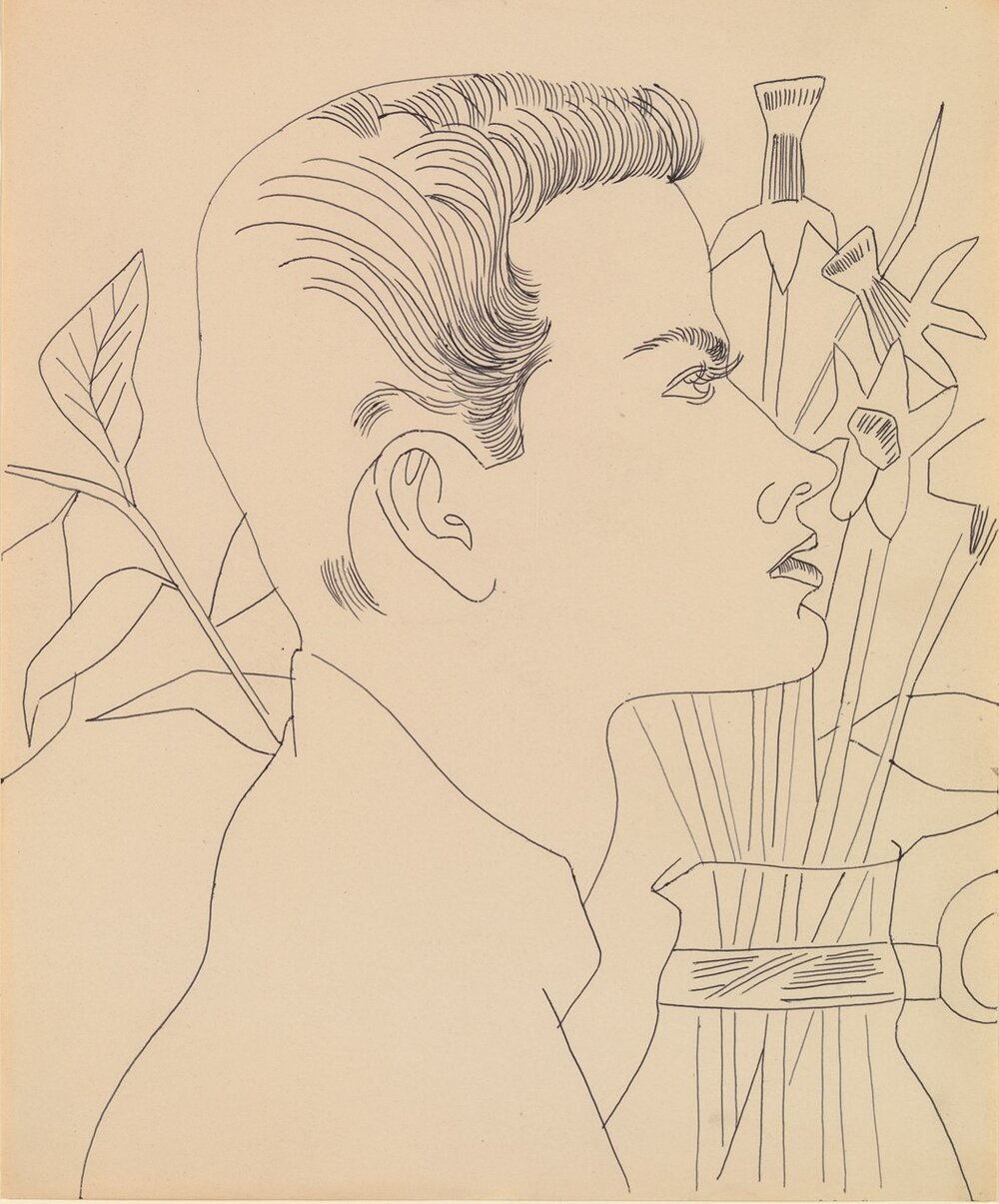 «Хлопець із квітами», 1955-57
