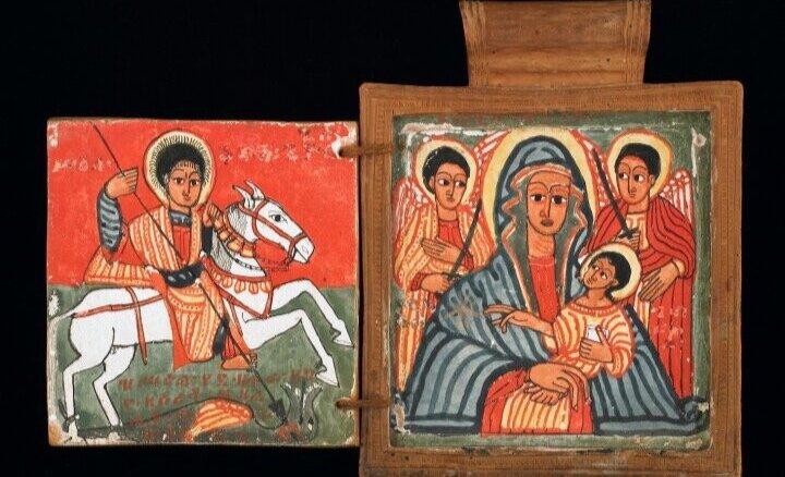 Середина XVII століття релігійна ікона Ефіопської православної церкви. Світлина: National Museum of African Art