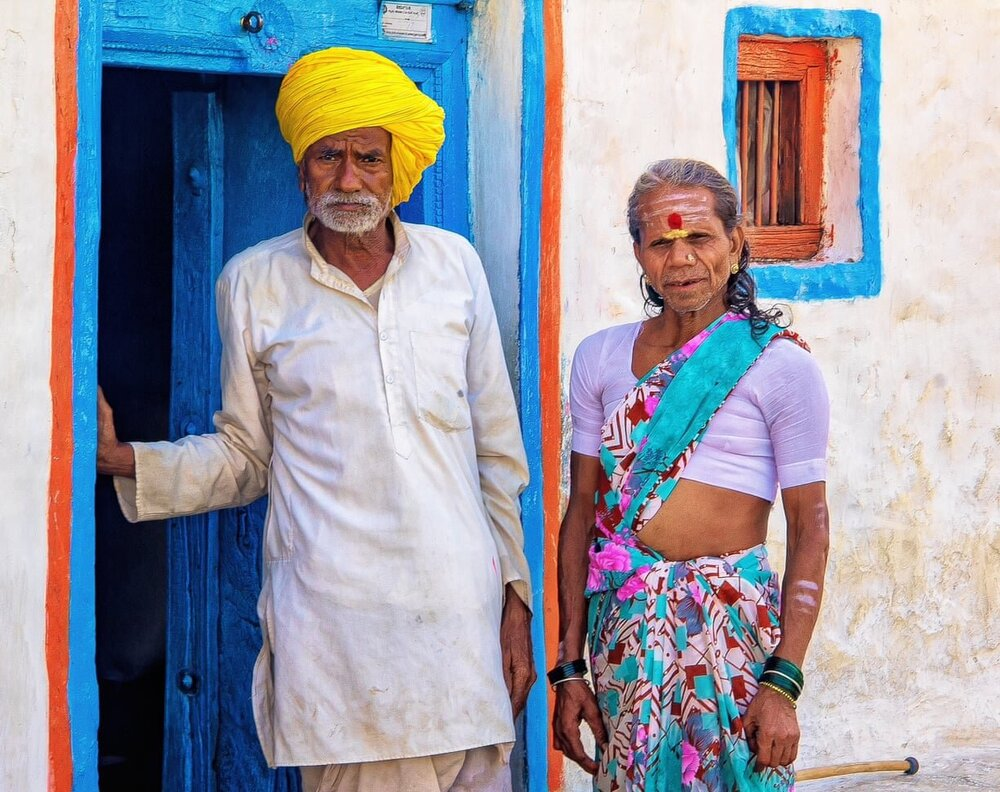 Подружня пара, чоловік та чого трансгендерна дружина з якою вони разом вже 40 років. Life Partners, Karnataka, India. Світлина: Digwas Bellemane/Global Health 50/50