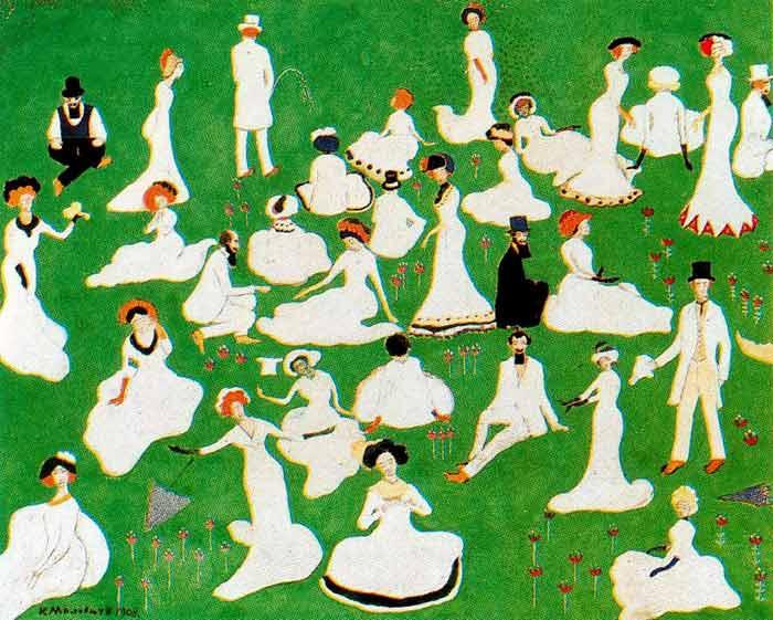 «Відпочинок. Суспільство в циліндрах» 1908