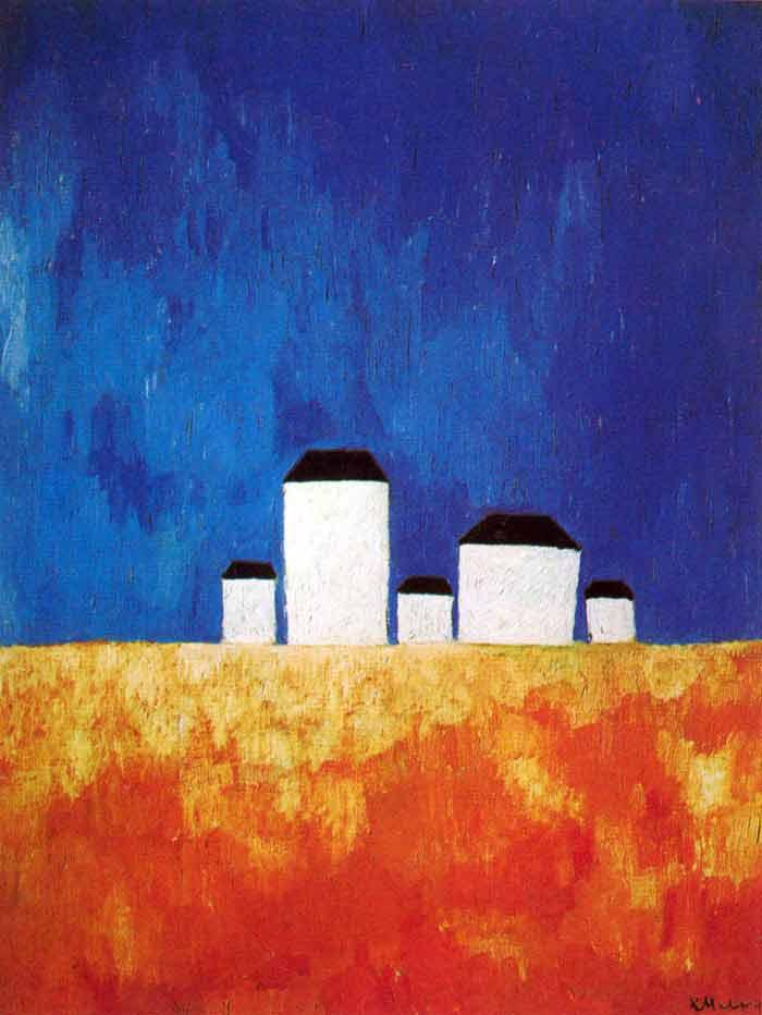 «Пейзаж з п'ятьма будинками» 1932