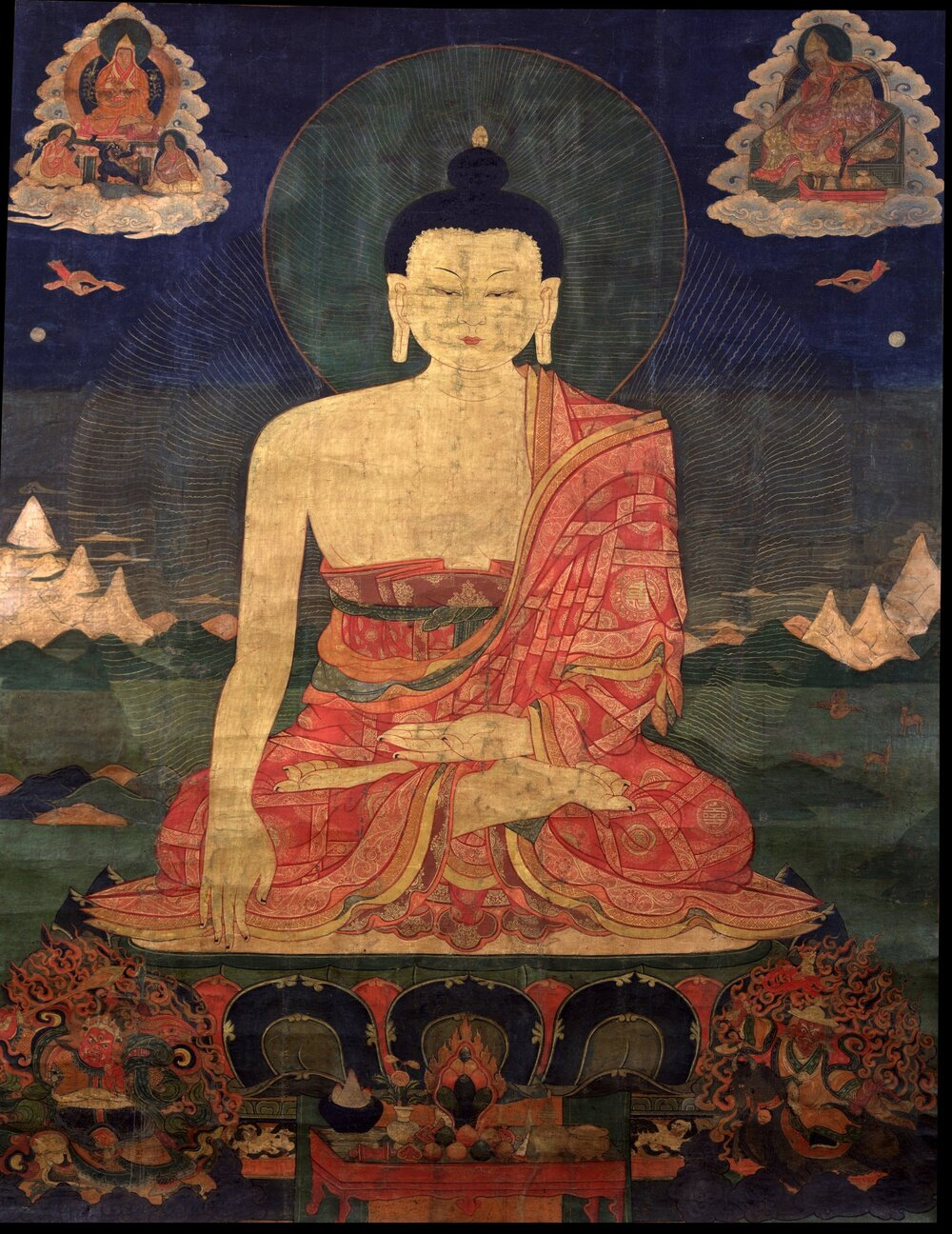 Полотно XVI століття, на якому зображений Будда