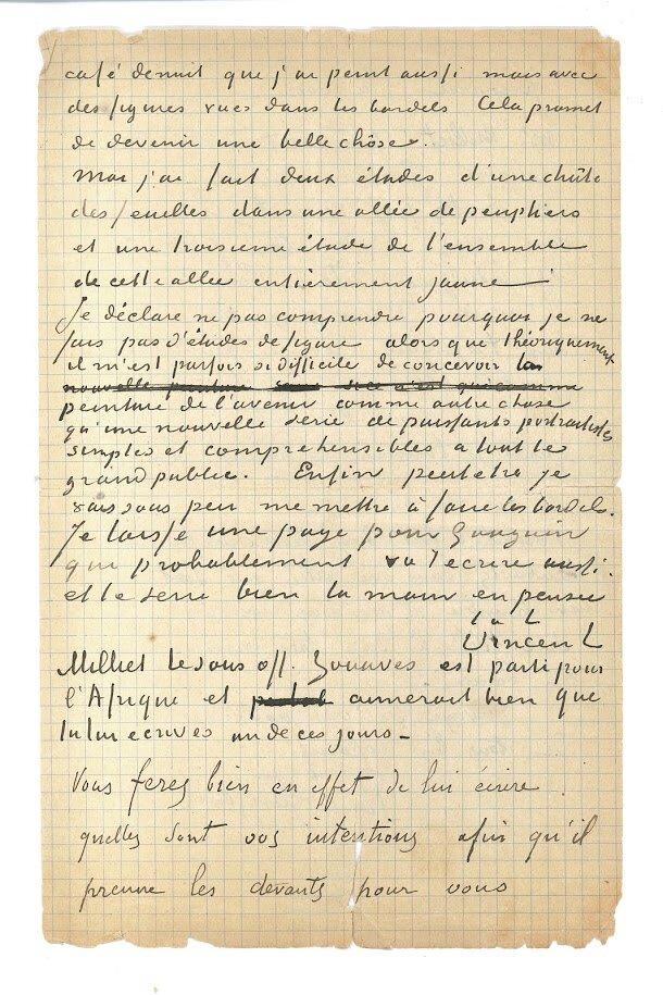 Фото: деталі листа ©e Van Gogh Museum, Amsterdam/Vincent van Gogh Foundation