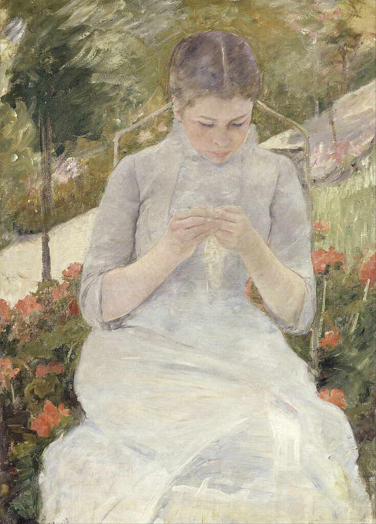 Girl in the Garden, Мері Кассат ©Wikimedia Commons