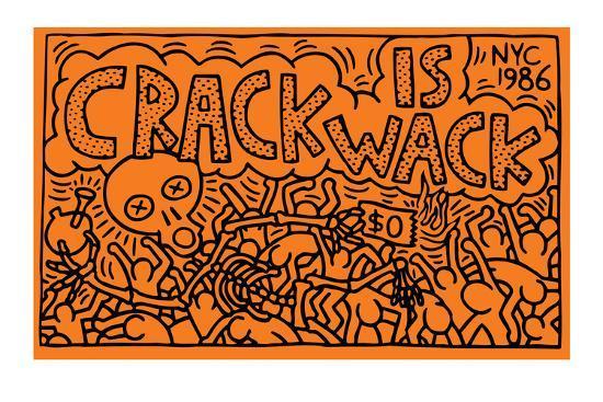 Кіт Харінг «Crack is Wack»
