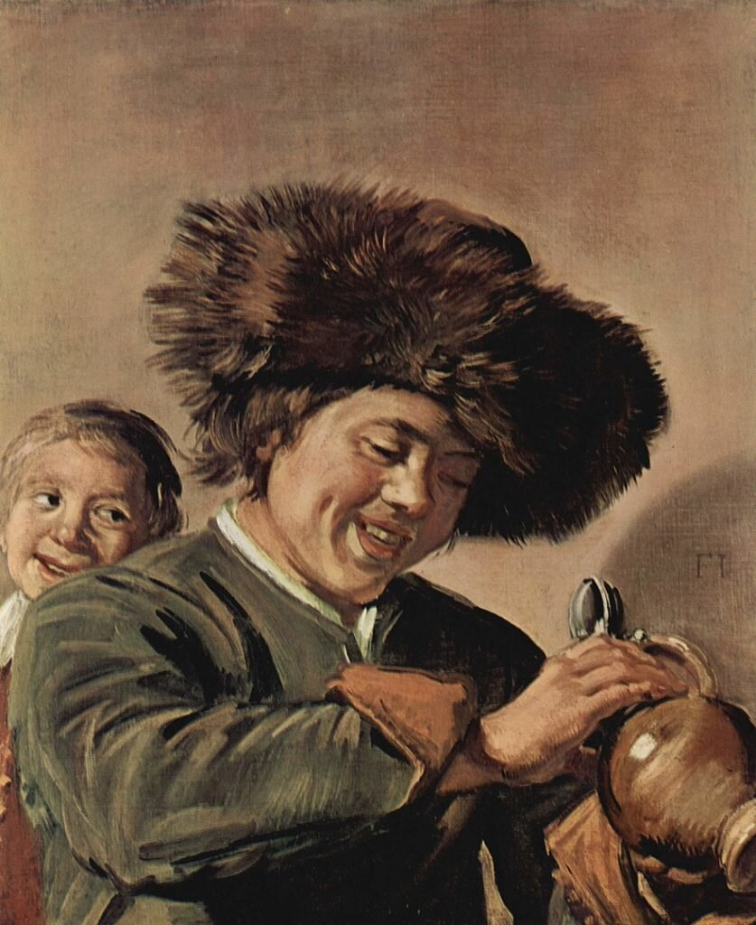 Two Laughing Boys with a Mug of Beer, Франс Галс, 1626 ©Wikimedia Commons