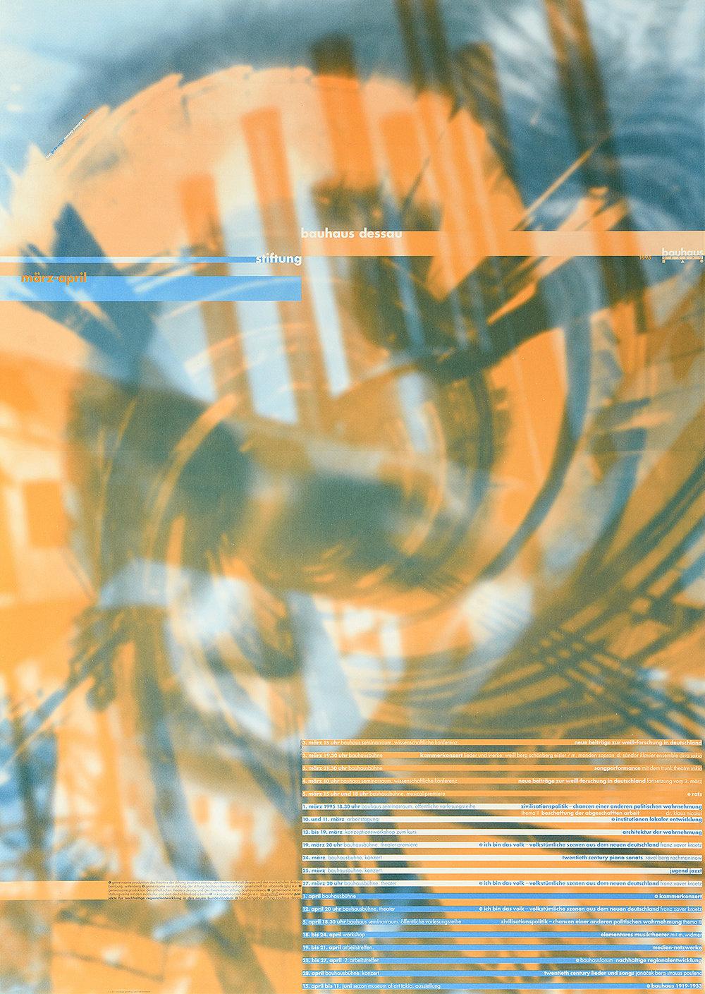 Bauhaus Program März April, 1995