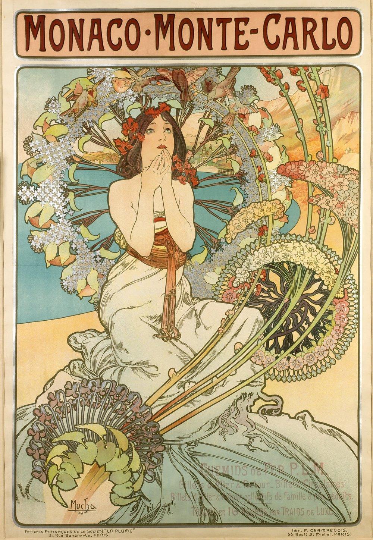Альфонс Муха «Монако Монте-Карло»,1897