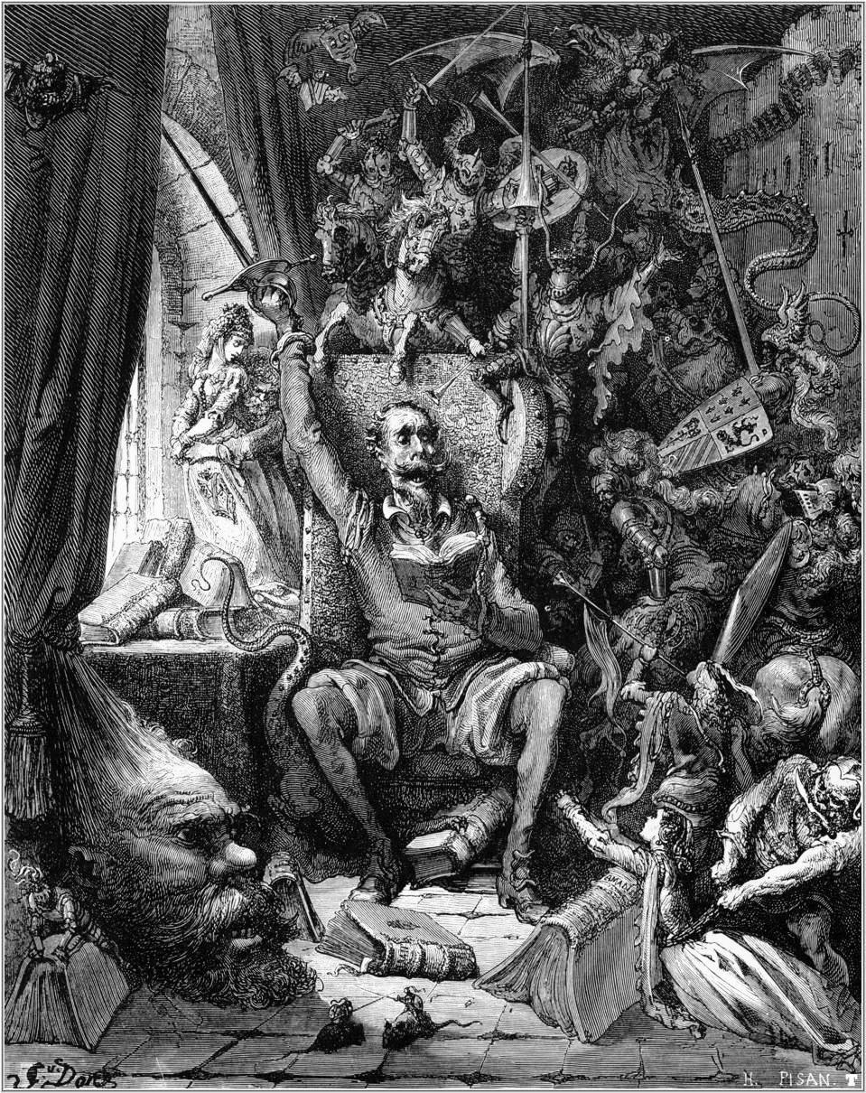 Ілюстрація Гюстава Доре до видання «Дон Кіхота»