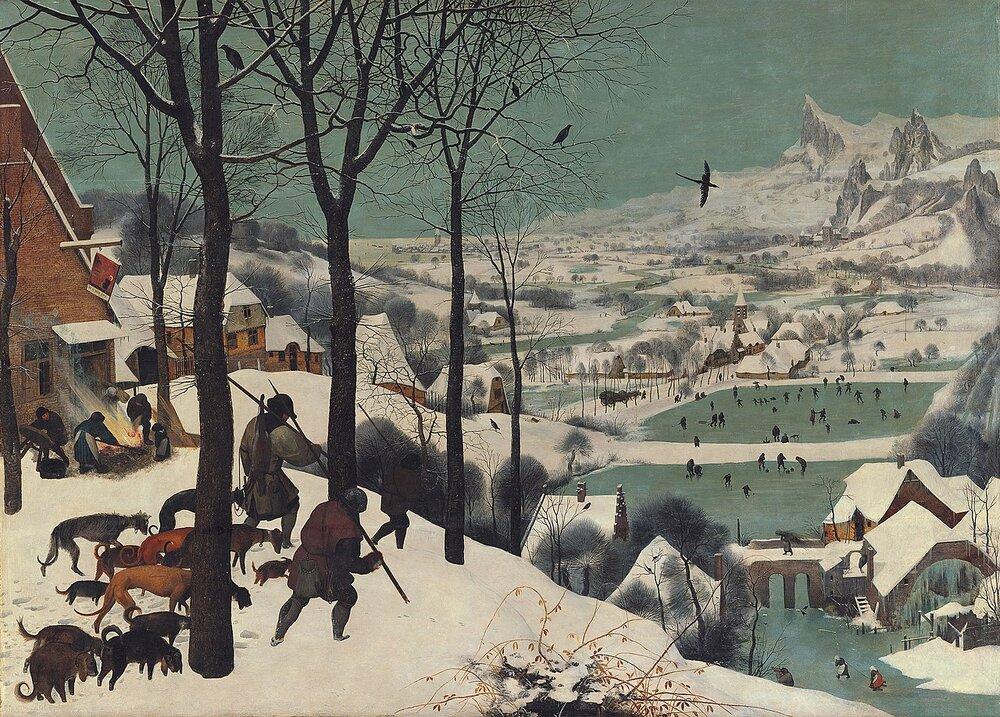 Пітер Брейгель Старший, «Мисливці на снігу», 1565. Музей історії мистецтв, Відень