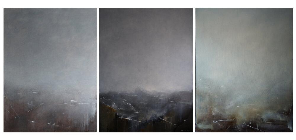 Матвій Вайсберг, триптих «Згадуючи Брейгеля» із циклу «Слабкий антропний принцип», 2016
