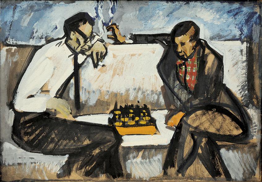 Михайло Вайнштейн. Шахісти. 1965 р. Stedley Art Foundation, Київ