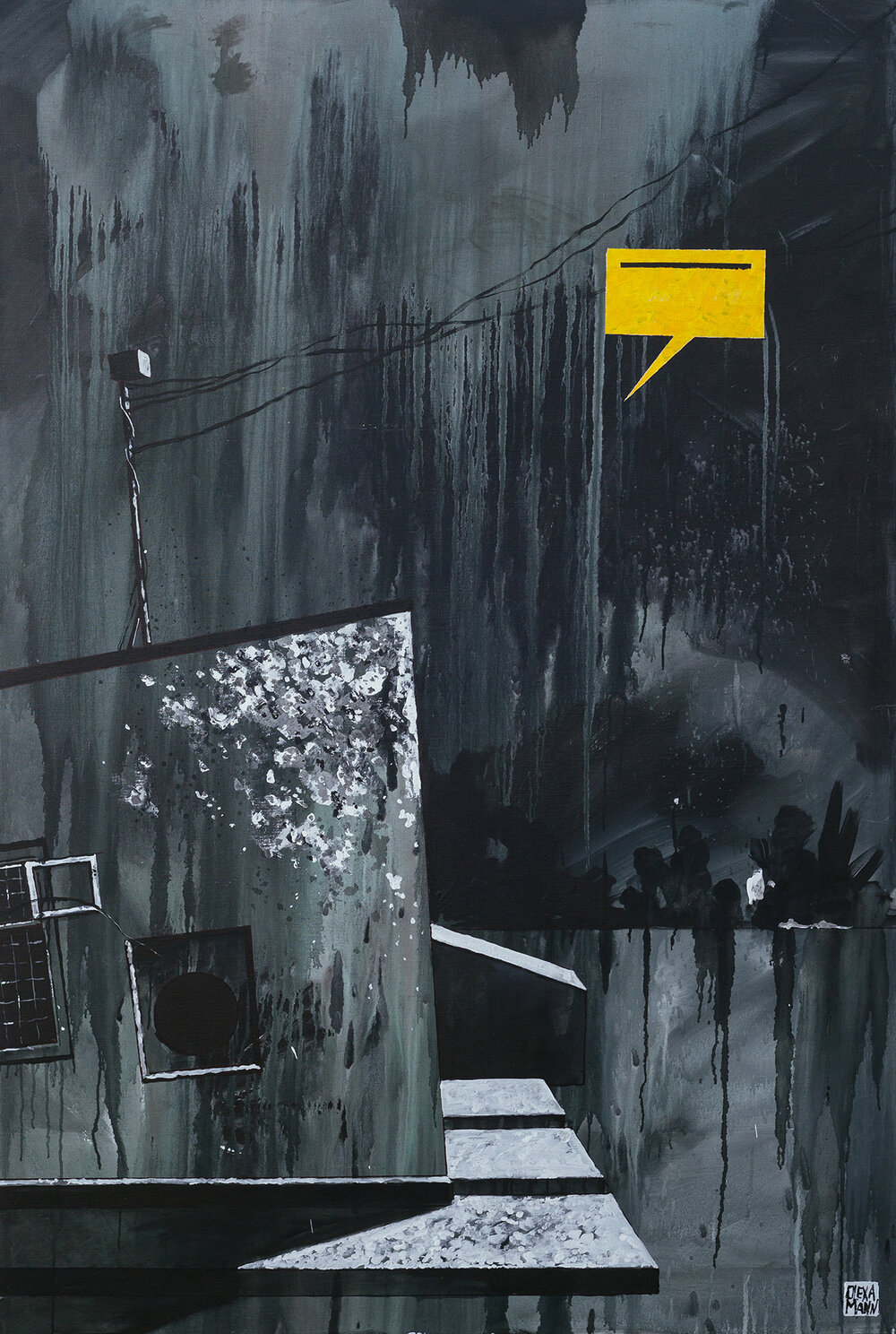 Олекса Манн, «ФРАГМЕНТ 1», полотно, акрил, 180 × 120 см., 2019