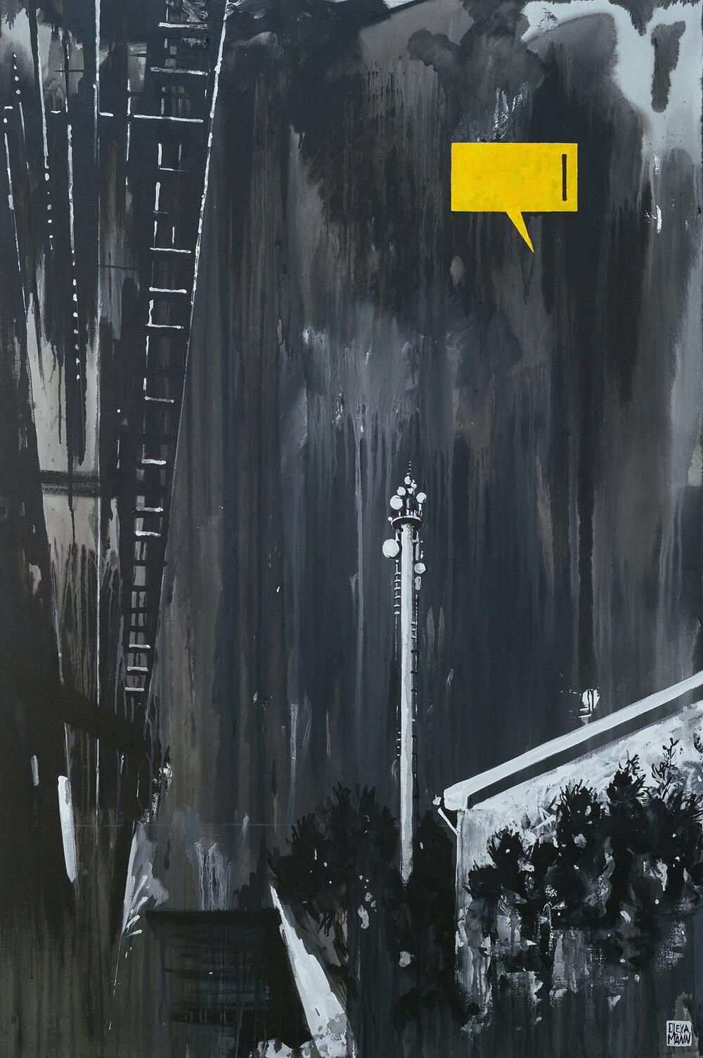 Олекса Манн, «ФРАГМЕНТ 2», полотно, акрил, 180 × 120 см., 2019