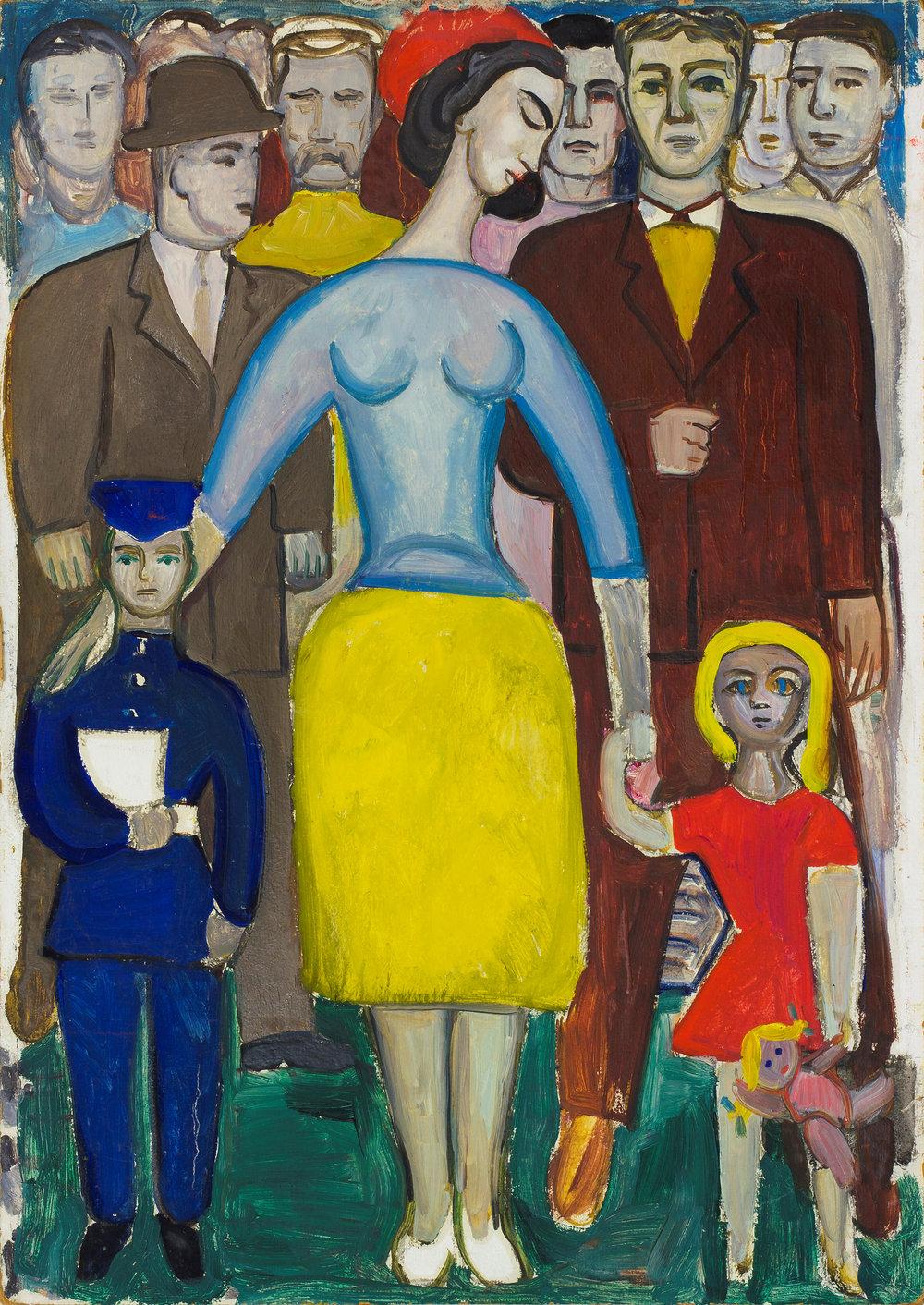 У школу.  Початок 1960-х. Колекція Grynyov Art Foundatiоn